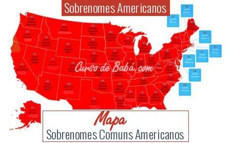 Sobrenomes Americanos - Mapa